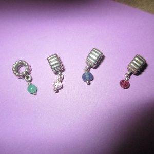 Pandora Jewelry - Pandora lot of 4 birthstones May SEP April Oct